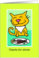 Thank you for dinner cat card