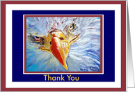 Thank You Patriotic Bald Eagle card