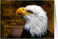 Thank You for Your Service Eagle card