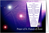 St Francis of Assisi Prayer card
