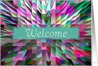 Contemporary Welcome Aboard Card
