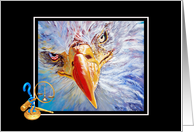 Paralegal Eagle Extraordinaire with Paralegal Symbol and Justice Scales card