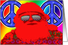 Psychedelic Santa - Peace on Earth, Baby! card