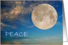 Peace Moon card