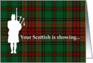 Tartan Day Scottish Bagpiper card