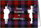 Tartan Day Scottish Bagpipers card