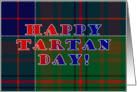 Tartan Day Scottish Plaid card