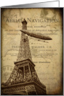 Vintage Hot Air Balloon In Paris - Any Occasion card