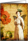 Vintage Queen Of Poppies- Any Occasion card
