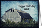 Happy Birthday Dad- Country Landscape card