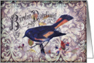 Any Occasion-Vintage Bird and Damask card