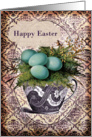 Happy Easter- Eggs and Teacup card