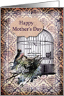 Happy Mother's Day- Birds and Birdcage card