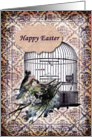 Happy Easter- Birds and Birdcage card