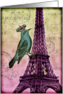 Vintage Parisian Bird -Any Occasion card