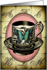 Vintage Teacup Butterfly - Any Occasion card