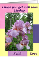 Get Well Soon Mother Flowers card