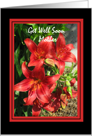 Get Well Soon Mother card