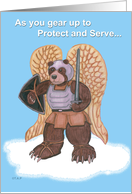 Warrior Angel Bear Protect And Serve card