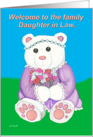 Welcome Daughter in Law Teddy Bear card