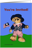 Invitation Patriot Bear card