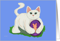 Easter Cat and Egg card