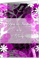 Teen Birthday Party Invite card
