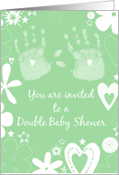 Invitation to double baby shower card