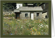 Spring Wildflowers Rustic House Notecard card