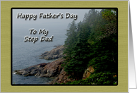 Father's Day for Step Dad, Coastal scene card