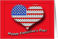 Happy Valentine's Day with Heart Cutout using the American Flag card