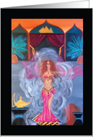 Invitation to Belly Dance Party Belly Dance Genie card