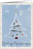 Christmas Tree Merry Christmas Prettige Kerstdagen Dutch card