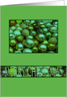 Merry Christmas, Irish green ornaments card