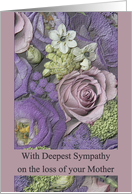 Sympathy Loss of your Mother - Purple bouquet card