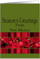 New Mexico - Season's Greetings roses & winter berries card