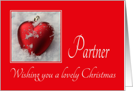 Partner - A Lovely Christmas, heart shaped ornaments card