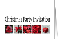 Christmas Party Invitation Red Collage warm holiday wishes card