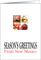New Mexico Season's Greetings - 4 Ornaments collage card