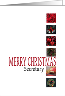 Secretary - Merry Christmas - Red christmas collage card