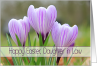 Daughter in Law - Happy Easter Purple crocuses card