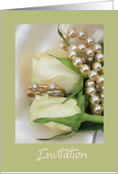white rose double bridal set - lesbian wedding card