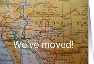 we've moved to Arizona card