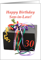 son-in-law 30th birthday gift with ribbons card