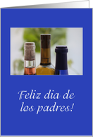 wine bottle father's day spanish card