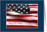 57th 4th of July birthday card