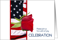 4th of July invitation card