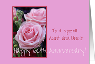 60th Anniversary Aunt and Uncle card