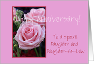 Anniversary Daughter & Daughter in law card