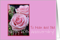 60th Anniversary mom & dad card
